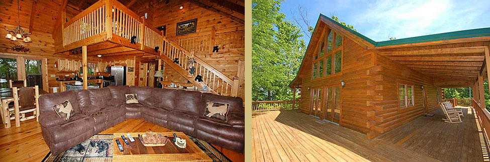 cabins that sleep 10-15